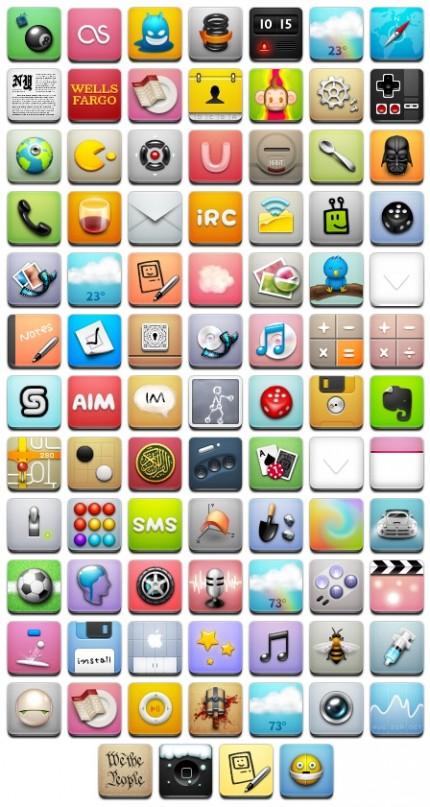 как прирастить иконки на iphone 4s