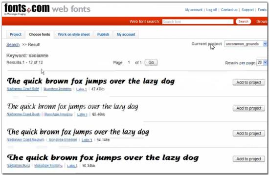 Онлайн сервис для выбора шрифтов