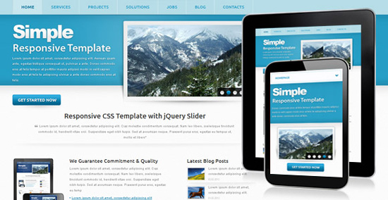 Simple css template