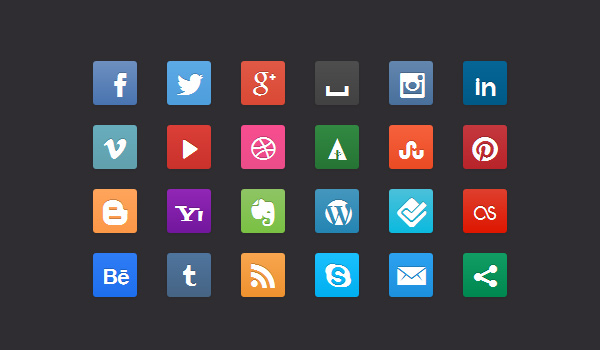 CSS3 Social Media Buttons