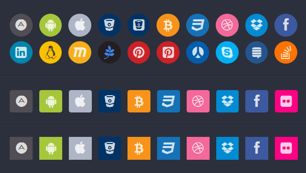 Awesome Colored Social Buttons