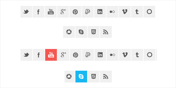 CSS Slide Effect Social Media Icons