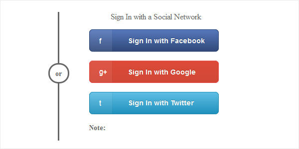 Social Media Sign In Icons in CSS