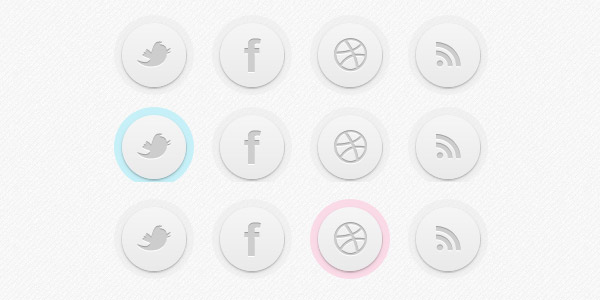 Circle Social Button in CSS3