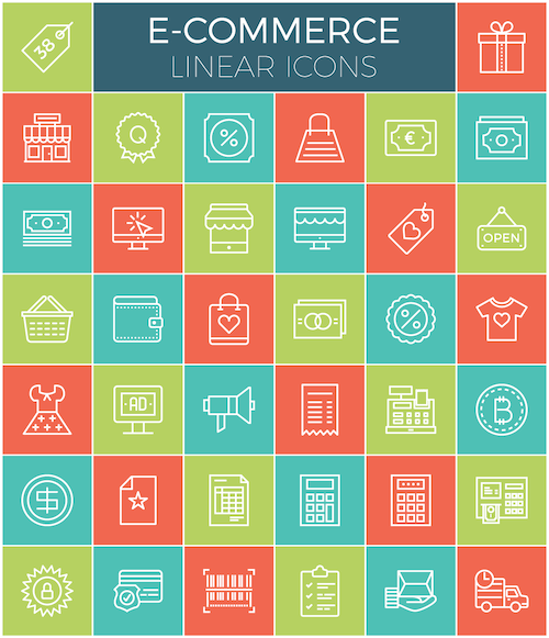 E-Commerce Linear Icon Set (38 Icons)