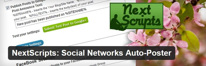 NextScripts Social Networks Auto-Poster