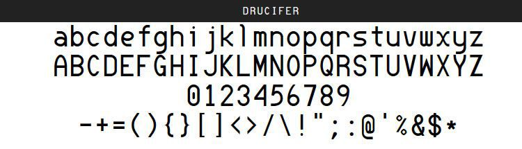 Drucifer Monospace by Drucifer