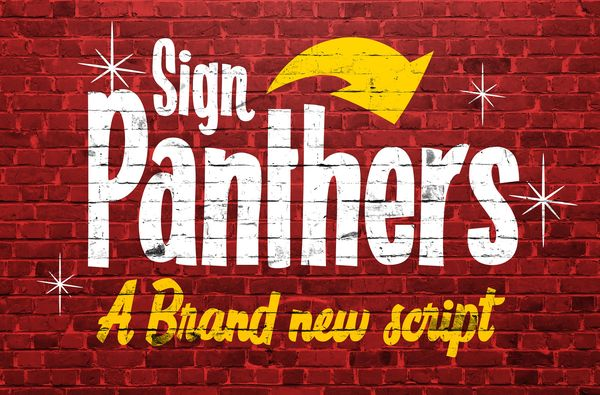 Шрифт The Sign Panthers