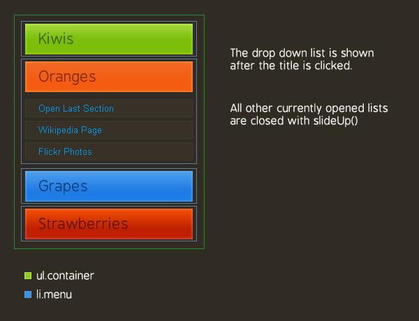Как создать меню аккордеон