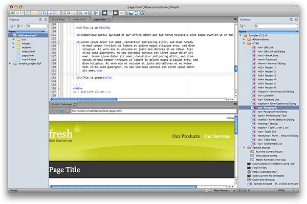 Редакторы для веб дизайна